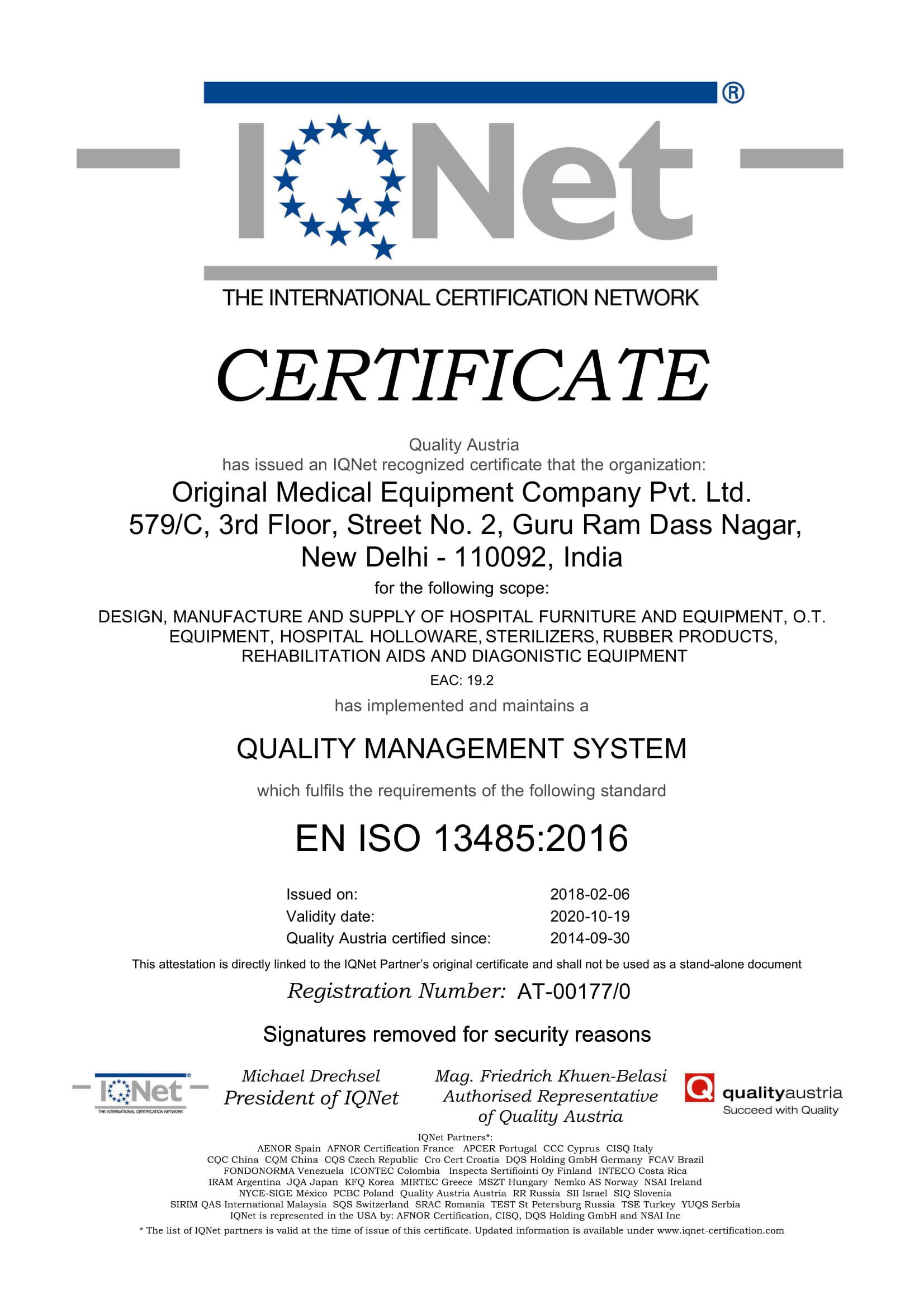 ISO-Certified & A CE Marked Hospital Equipment Manufacturing