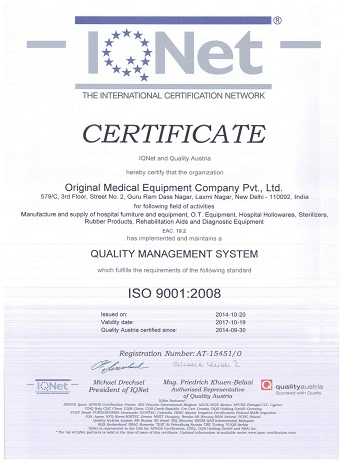 ISO-Certified & A CE Marked Hospital Equipment Manufacturing Company