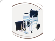 Invalid Wheel Chair Folding With Commode (Patient Attendant)